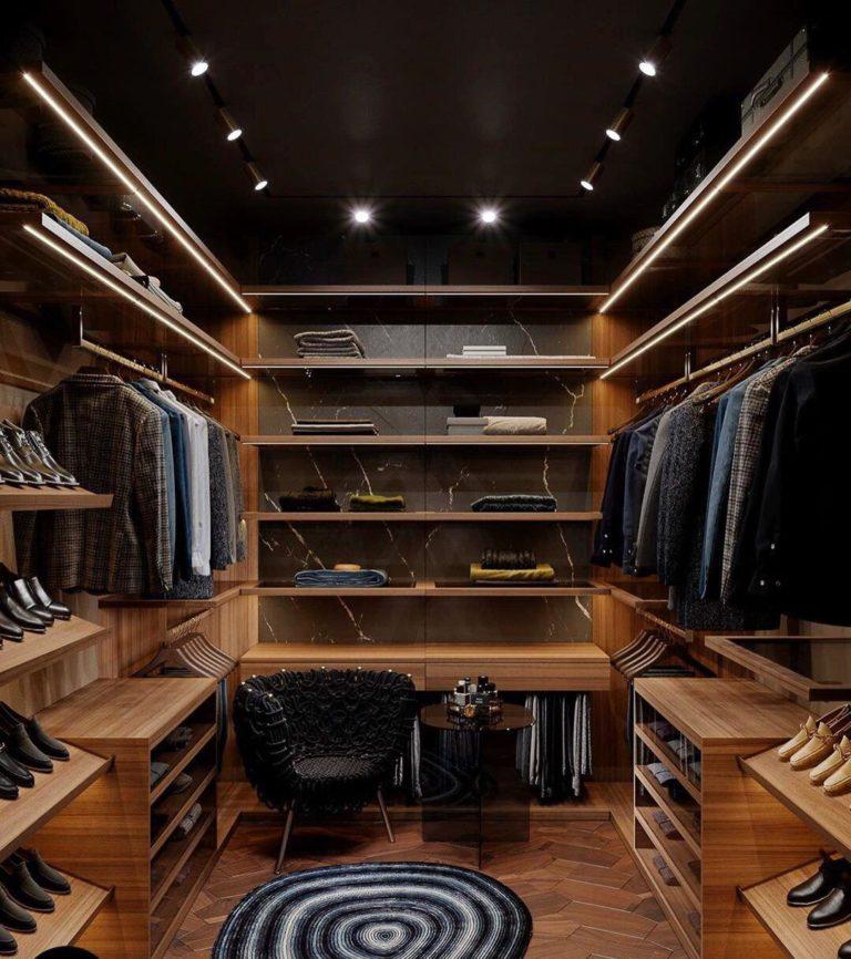 Стильная гардеробная в Минске